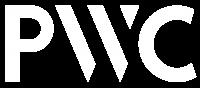 PWC logo white
